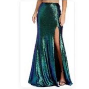 Windsor iridescent mermaid skirt NWT